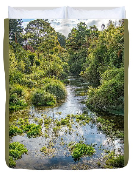 Hamurana Springs Duvet Cover by Martin Capek
