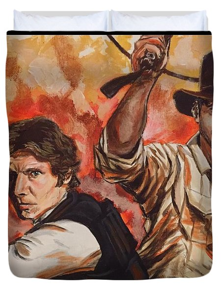 Han Solo And Indiana Jones Duvet Cover