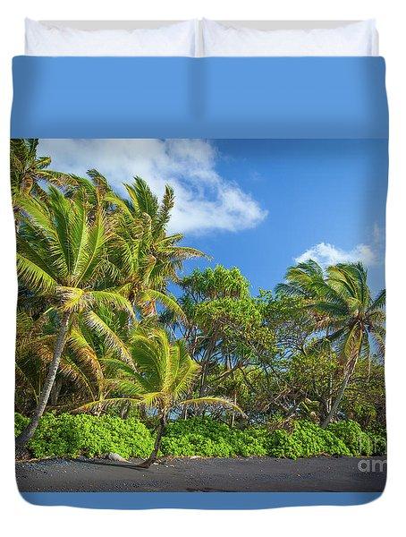 Hana Palm Tree Grove Duvet Cover by Inge Johnsson