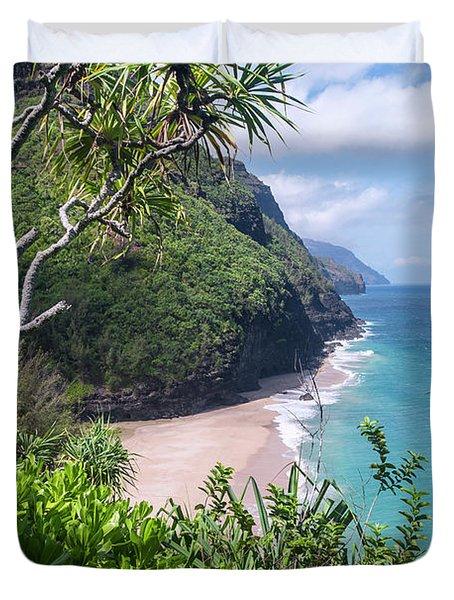Hanakapiai Beach Duvet Cover