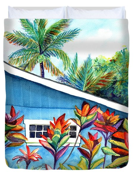 Hanalei Cottage Duvet Cover by Marionette Taboniar