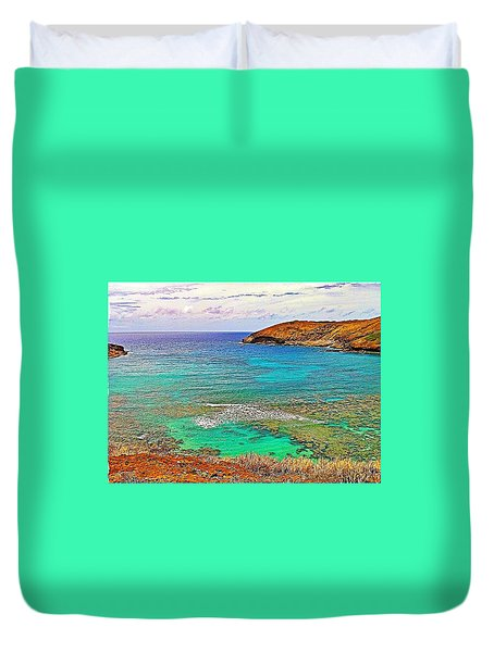 Hanauma Bay Duvet Cover