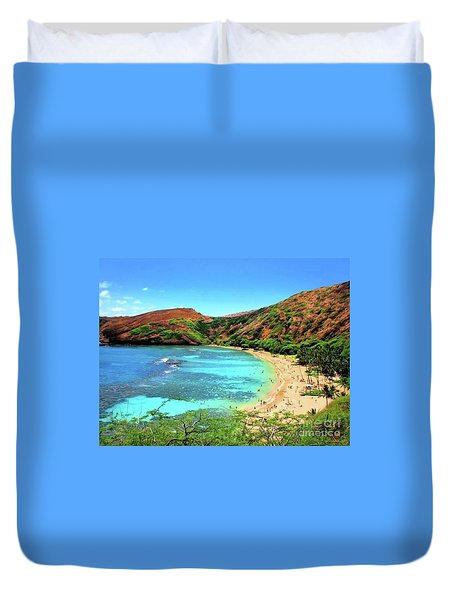 Hanauma Bay Nature Preserve Duvet Cover