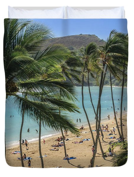Duvet Cover featuring the photograph Hanauma Bay by Steven Sparks