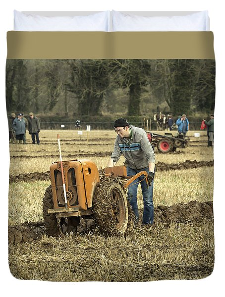 Duvet Cover featuring the photograph Hand Held Tractor Plough by Roy McPeak