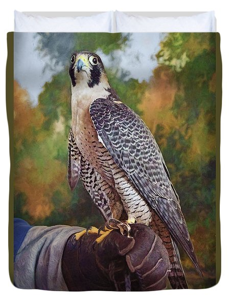 Duvet Cover featuring the photograph Hand Of The Falconer by Nikolyn McDonald