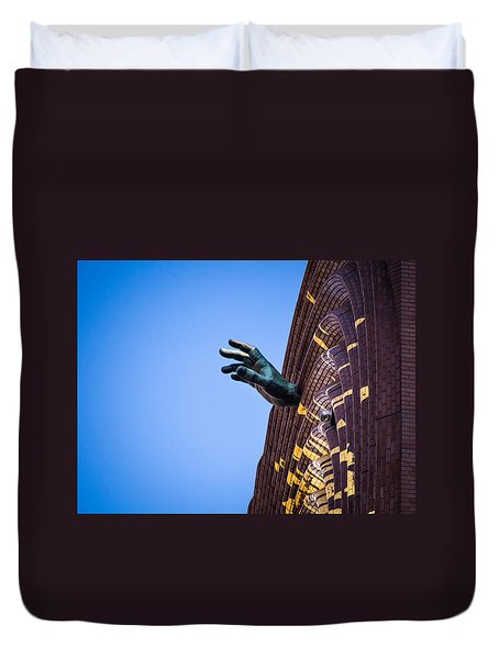 Hand On My Time Duvet Cover