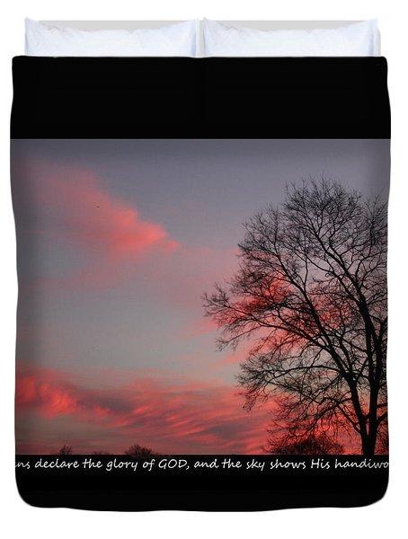 Handiwork Of God Duvet Cover by EricaMaxine Price
