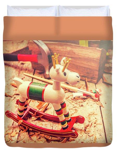 Handmade Xmas Rocking Toy Duvet Cover