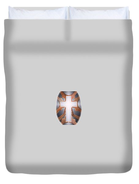 Hands Cross T-shirt Duvet Cover by Herb Strobino