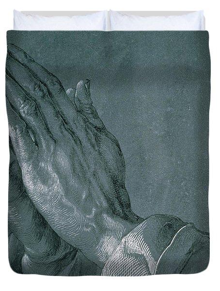 Hands Of An Apostle Duvet Cover by Albrecht Durer
