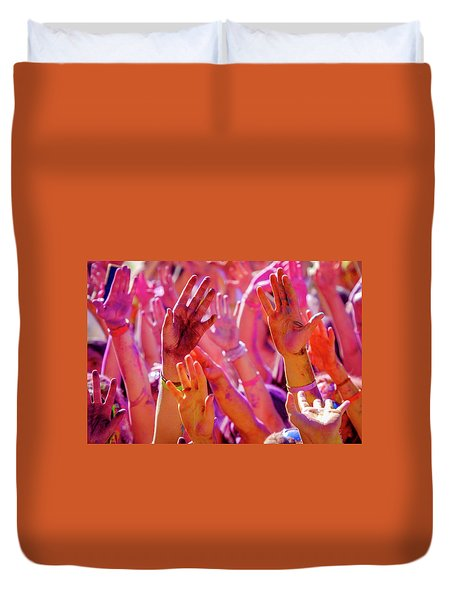 Hands Up-2 Duvet Cover