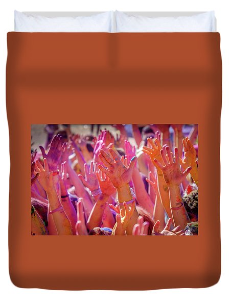 Hands Up Duvet Cover