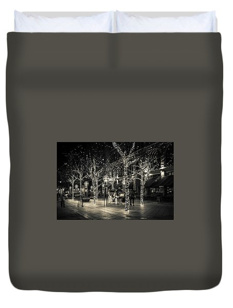 Handsome Cab In Monochrome Duvet Cover