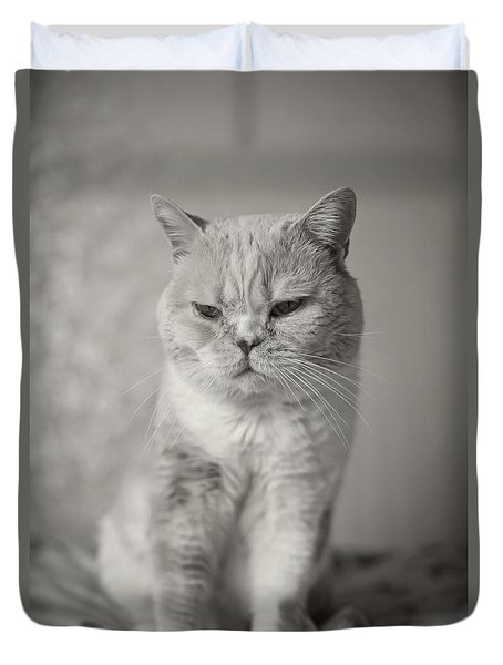 Handsome Cat Duvet Cover