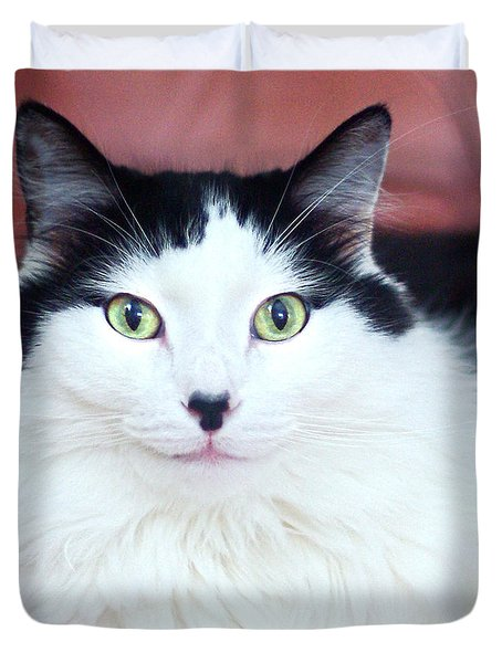 Duvet Cover featuring the photograph Handsome Tuxy by Byron Varvarigos