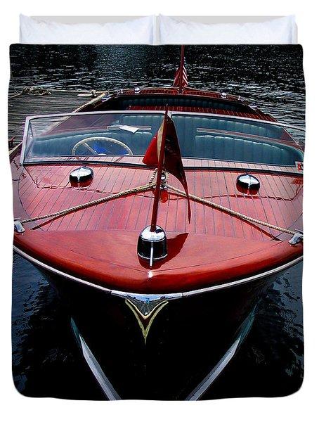 Handsome Wooden Boat Duvet Cover