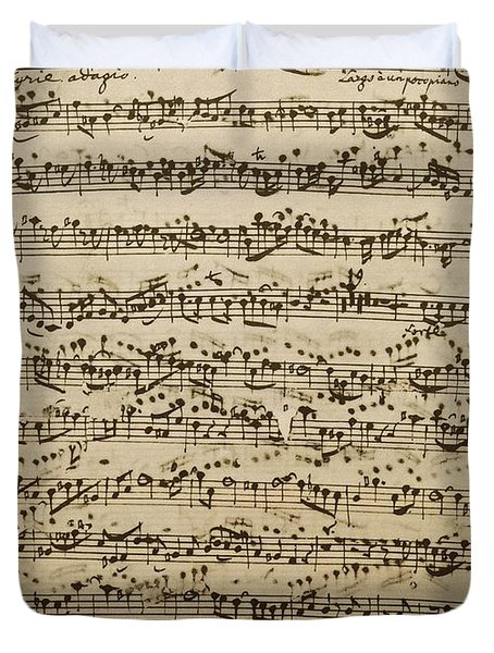 Handwritten Score For Mass In B Minor Duvet Cover
