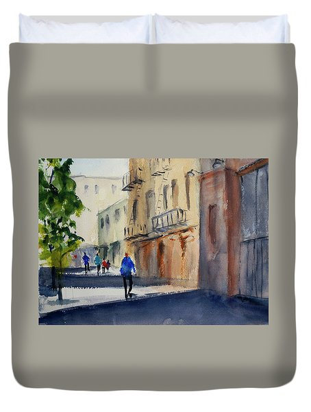 Hang Ah Alley Duvet Cover by Tom Simmons