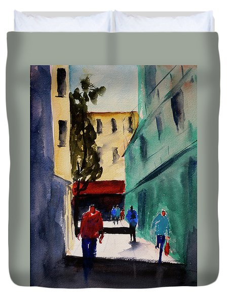 Hang Ah Alley1 Duvet Cover by Tom Simmons