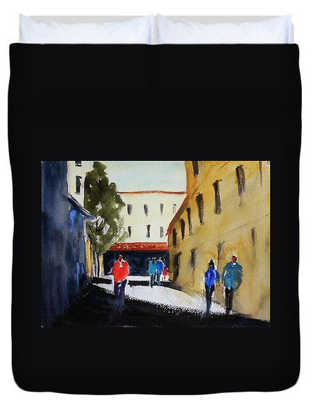 Hang Ah Alley2 Duvet Cover by Tom Simmons