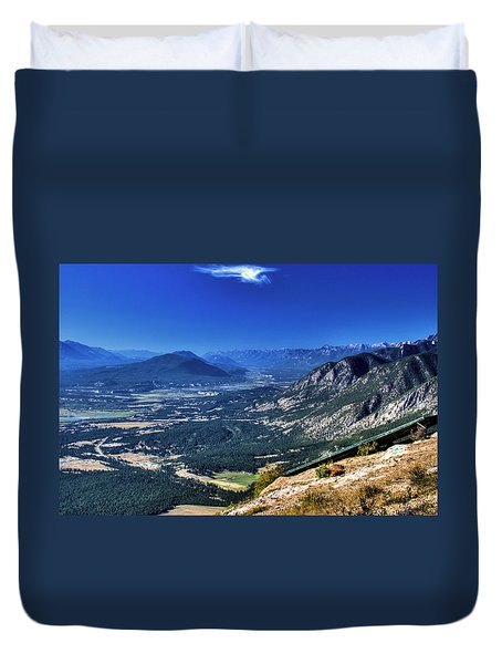 Hang Gliders Point Of View Duvet Cover
