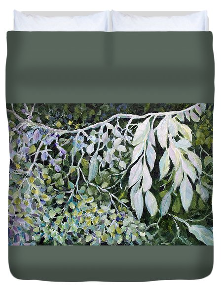 Silver Spendor Duvet Cover by Joanne Smoley