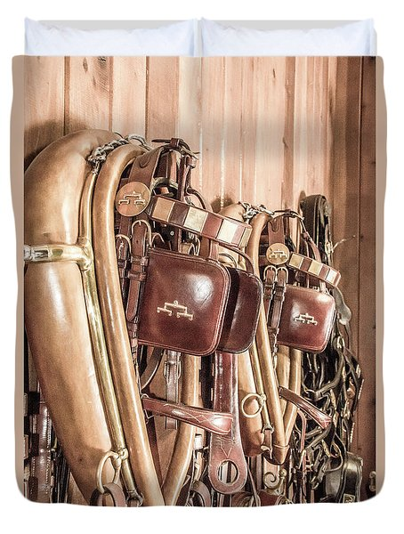 Hanging Bridles Duvet Cover by Pamela Williams