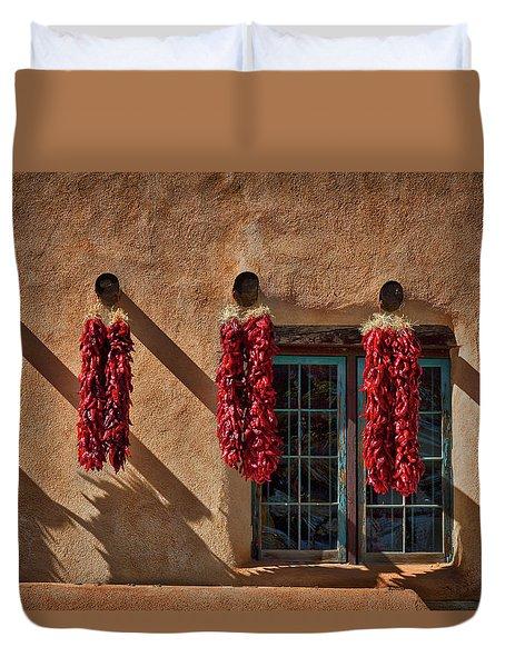 Hanging Chili Ristras - Taos Duvet Cover