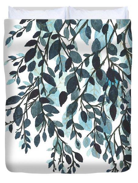 Hanging Leaves II Duvet Cover by Garima Srivastava
