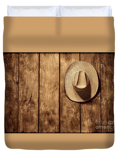 Hanging My Hat Duvet Cover