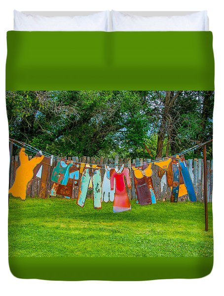 Hanging Out... Duvet Cover by Carolyn Dalessandro