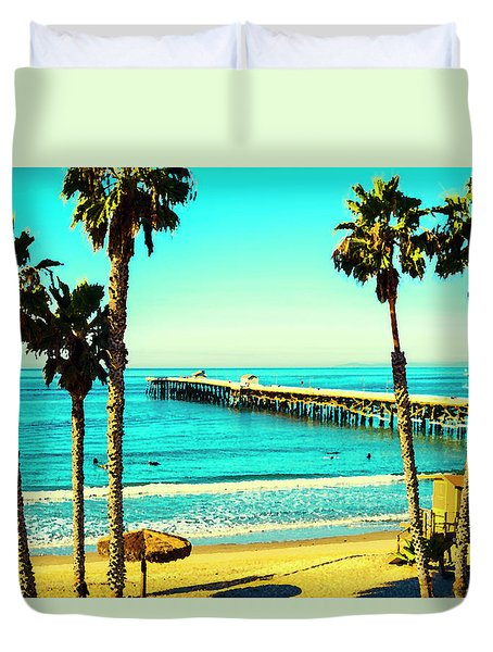 Hanging Out In San Clemente Duvet Cover