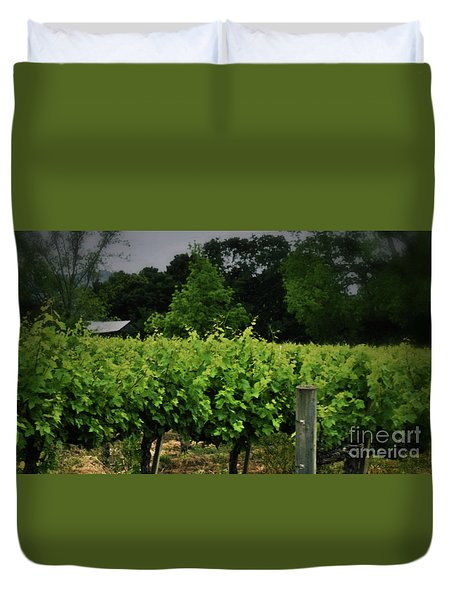 Hanging Out In The Vineyards Duvet Cover