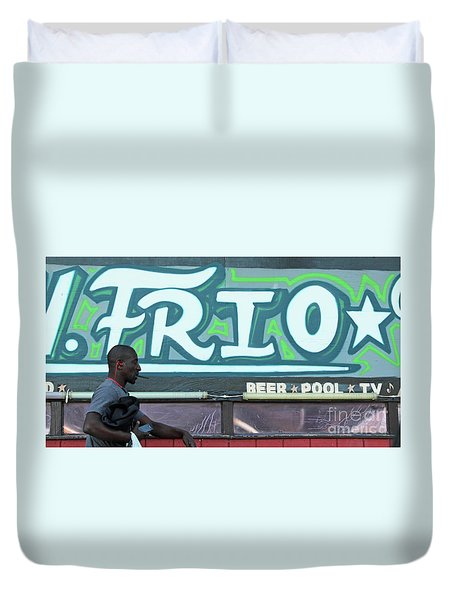 Duvet Cover featuring the photograph Hanging Out On Frio Street by Joe Jake Pratt