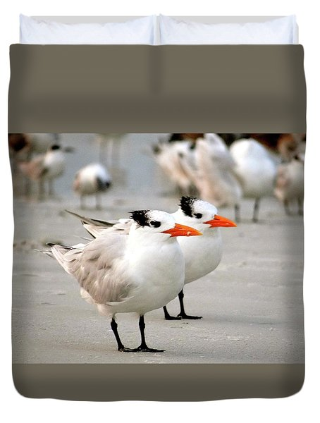 Hanging Out On The Beach Duvet Cover