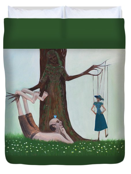 Hanging Out Duvet Cover by Tone Aanderaa