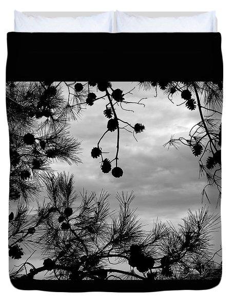Hanging Pine Cones Duvet Cover