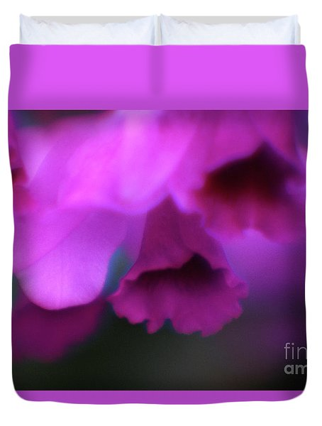Hanging Purple Tropical Flowers Up Close- Kauai- Hawaii Duvet Cover
