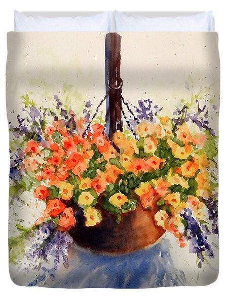 Hanging Spring Basket Duvet Cover