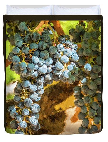 Hanging Wine Duvet Cover