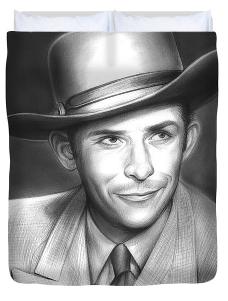 Hank Williams Duvet Cover
