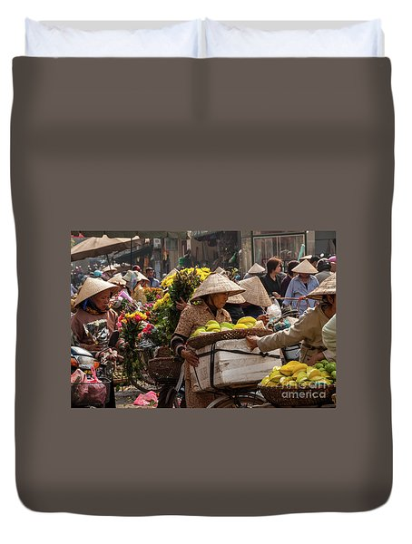 Hanoi Market 02  Duvet Cover