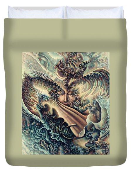 Hansa Swann Duvet Cover by Nad Wolinska