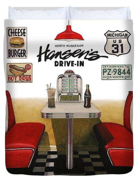 Hansen's Drive-in Duvet Cover