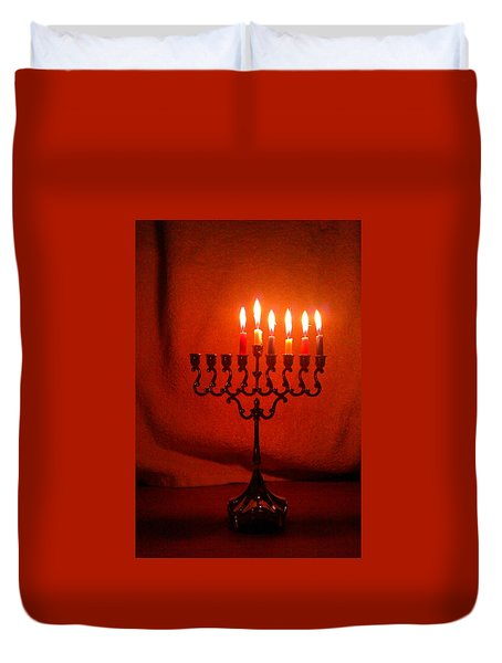 Hanukkah On Fifth Day Duvet Cover
