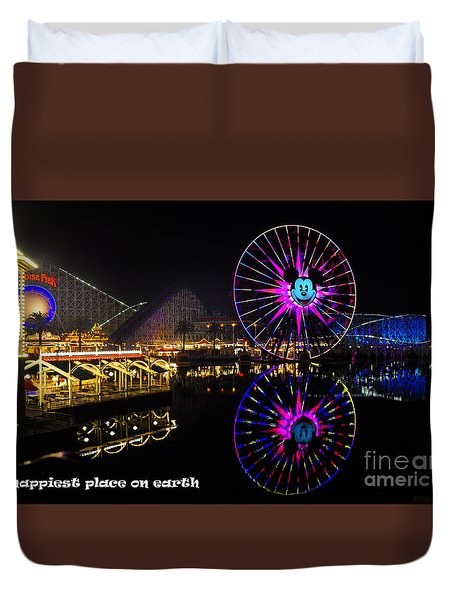 Happiest Place On Earth Duvet Cover