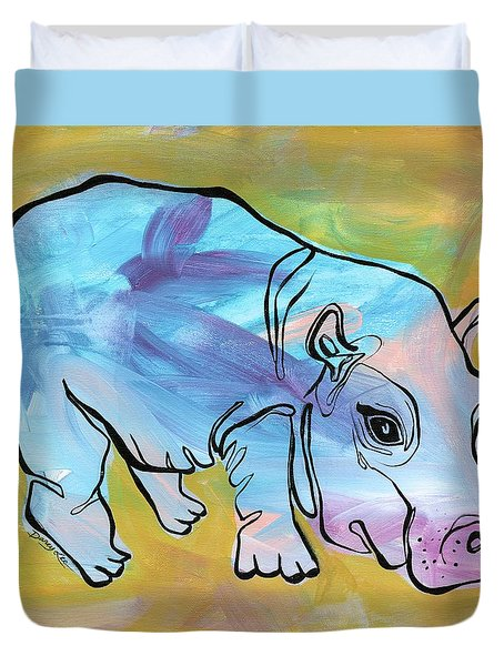 Happily Hippo Duvet Cover