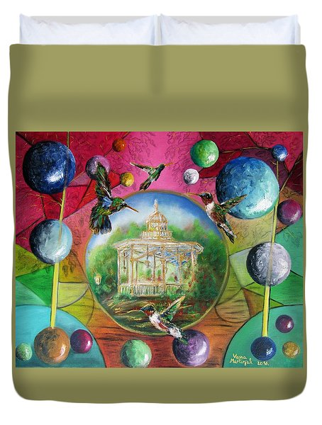 Happiness In The Park Duvet Cover by Vesna Martinjak