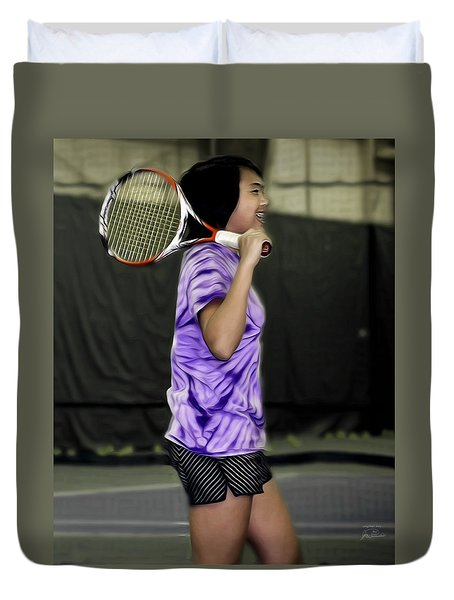 Happiness Is A Good Racket Duvet Cover